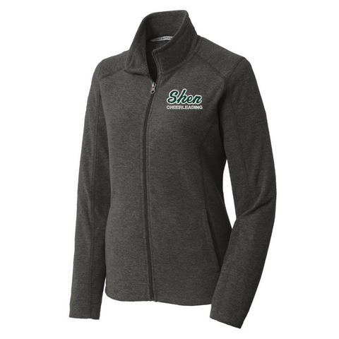 Shen Cheerleading Heathered Full Zip Micro-Fleece- Ladies & Men's, 2 Colors