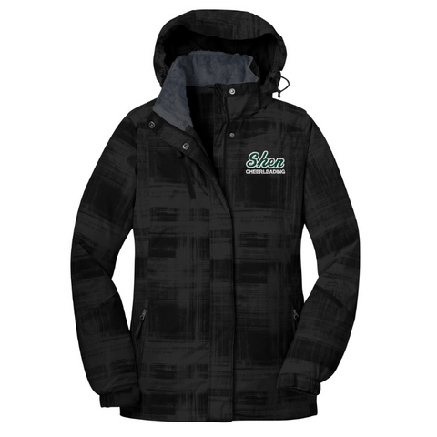 Shen Cheerleading Ladies Heavyweight Brushstroke Print Jacket