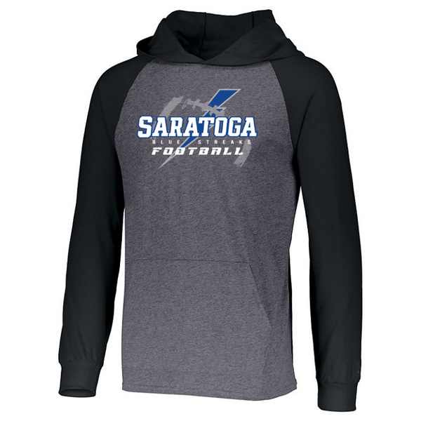 Saratoga Football Two-Tone Long Sleeve Lightweight Hooded Shirt- 3 Colors
