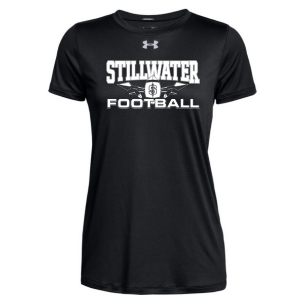 Stillwater Warriors Football Under Armour Short Sleeve Performance Shirt- Ladies & Men's, 2 Colors