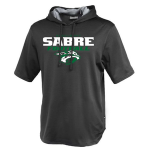 Schalmont Football Short Sleeve Performance Hoodie- 2 Colors