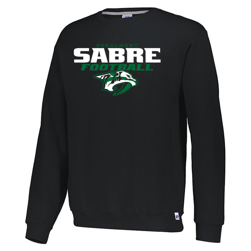 Schalmont Football Crew Neck Sweatshirt- Youth, Ladies & Men's, 3 Colors
