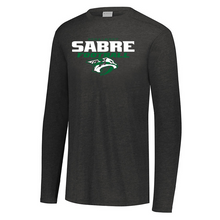 Load image into Gallery viewer, Schalmont Football Tri-Blend Long Sleeve- Youth, Ladies, & Men's- 3 Colors