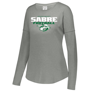 Schalmont Football Tri-Blend Long Sleeve- Youth, Ladies, & Men's- 3 Colors
