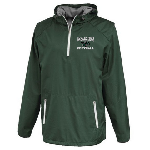 Schalmont Football Hooded 1/4 Zip Windbreaker- 2 Colors