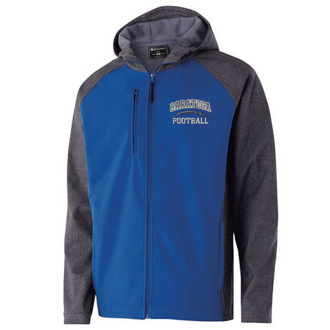 Saratoga Football Colorblock Softshell Jacket- Ladies & Men's, 3 Colors