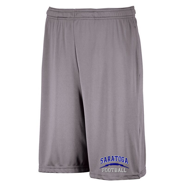 Saratoga Football Dri-Power Pocket Shorts- Youth & Adult, 4 Colors