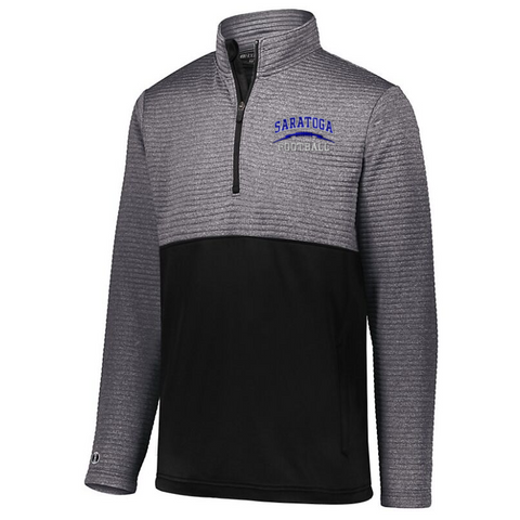 Saratoga Football Textured 1/4 Zip Performance Pullover- Ladies & Men's, 4 Colors