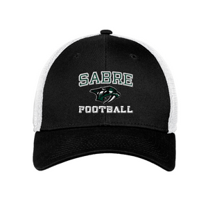 Schalmont Football Fitted Stretch Mesh Back Hat- 3 Colors