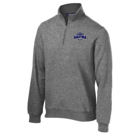 Saratoga Girls Basketball 1/4 Zip Sweatshirt- Ladies & Men's, 3 Colors