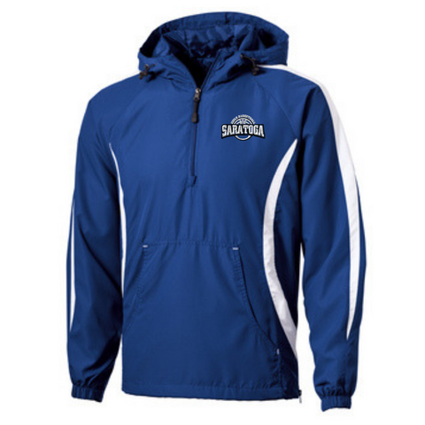 Saratoga Girls Basketball 1/4 Zip Wind Jacket- 2 Colors