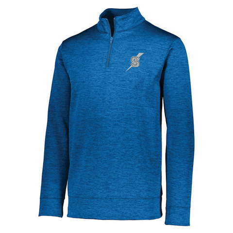 Saratoga Golf 1/4 Zip Heather Performance Pullover- Ladies & Men's, 4 Colors
