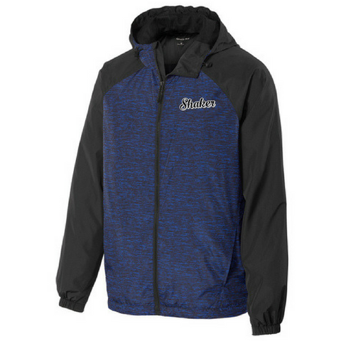 Shaker Heathered Hooded Wind Jacket- Ladies & Men's, 2 Colors