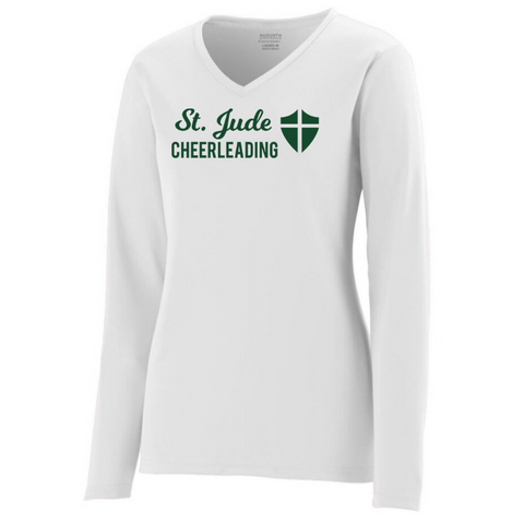St. Jude Cheerleading Solid Long Sleeve Performance Shirt- Youth, Ladies & Men's, 2 Colors