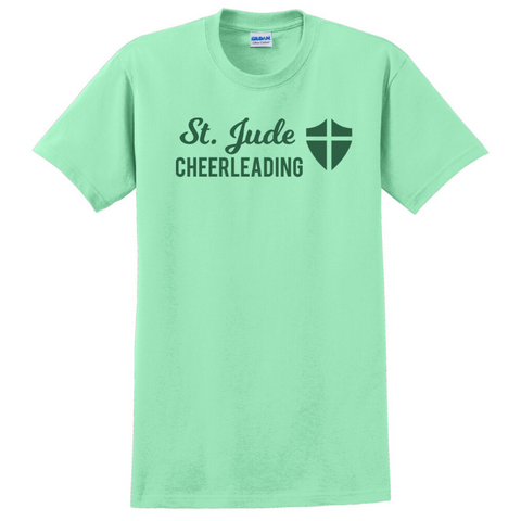 St. Jude Cheerleading Cotton Tee- Youth & Adult, 3 Colors