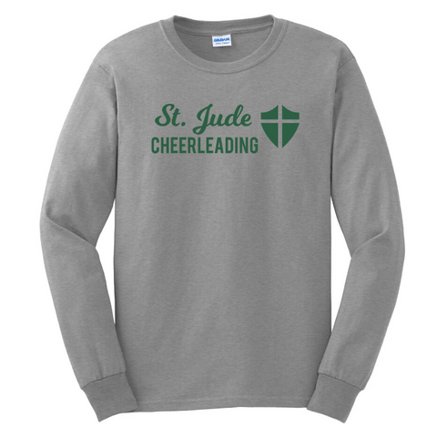 St. Jude Cheerleading Cotton Tee- Youth & Adult, 2 Colors