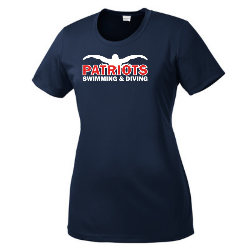 Schenectady Swimming & Diving Ladies Performance T-shirt