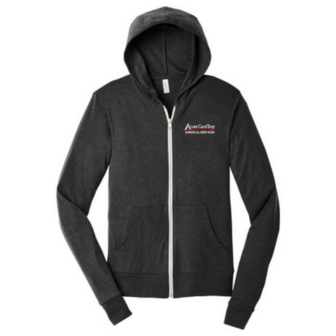 Acute Care Full Zip Triblend Hoodie