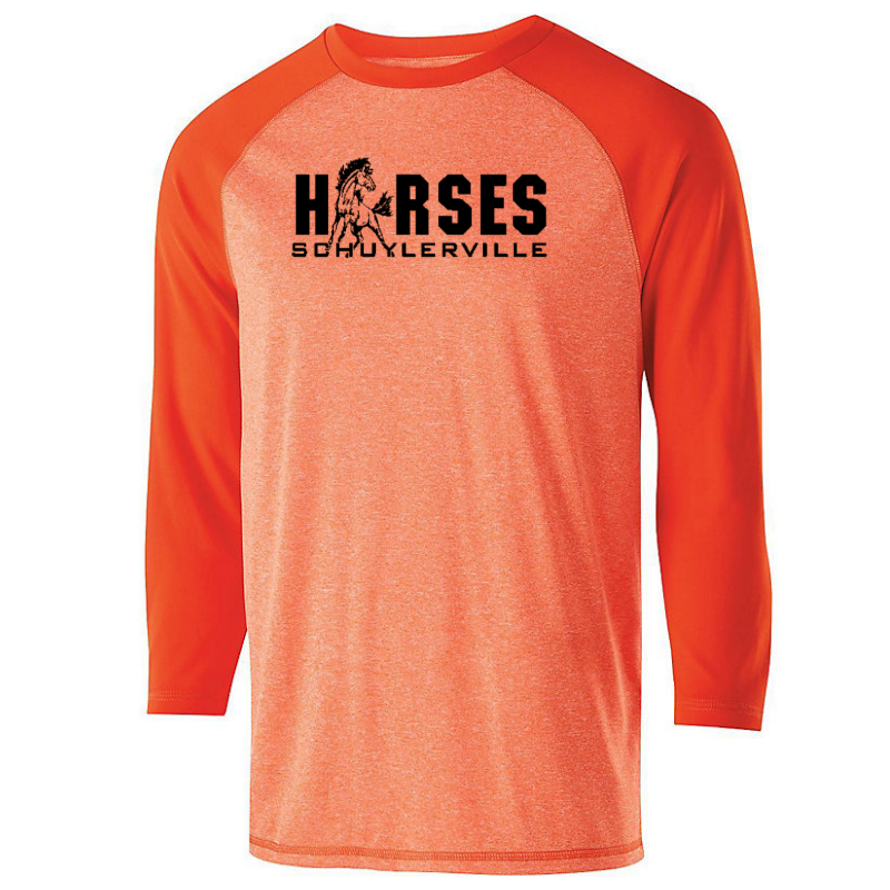 Schuylerville Two-Tone 3/4 Sleeve Tee- Youth & Adult, 2 Colors