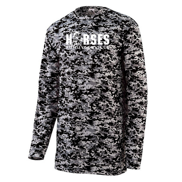 Schuylerville Digi-Camo Long Sleeve Performance T-Shirt- Youth & Adult, 3 Colors
