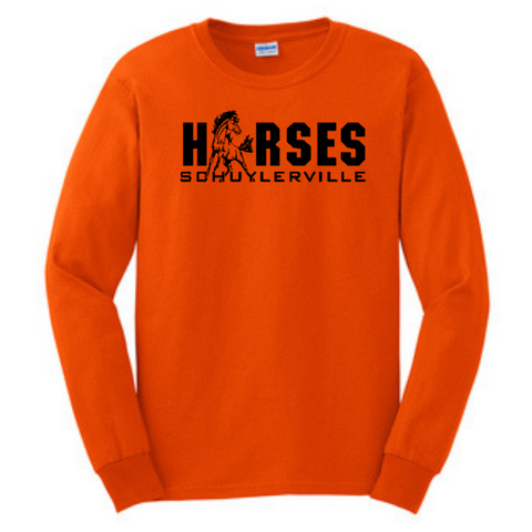 Schuylerville Long Sleeve Shirt- Youth & Adult, 4 Colors