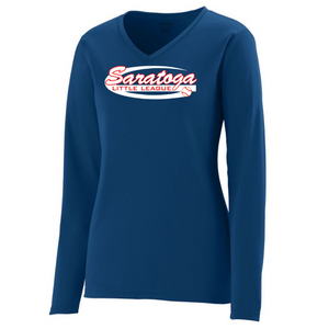 Saratoga Little League Long Sleeve Performance Shirt- Youth, Ladies & Men's, 3 Colors