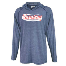 Load image into Gallery viewer, Saratoga Little League Hooded Heather Long Sleeve Performance Tee- Youth & Adult, 3 Colors