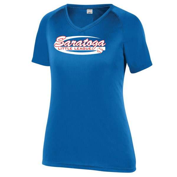 Saratoga Little League Solid Performance Tee- Youth, Ladies, & Men's, 2 Colors