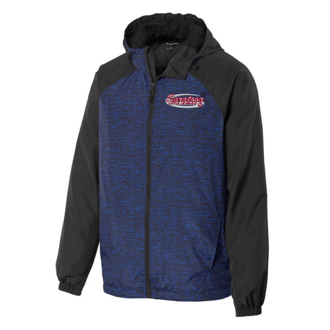 Saratoga Little League Heathered Hooded Wind Jacket- Ladies & Men's, 2 Colors