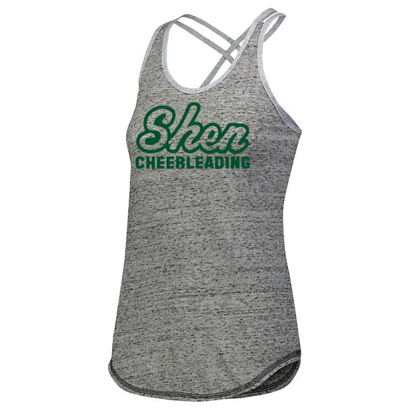 Shen Cheer Ladies Cross Back Tank- 3 Logo Options