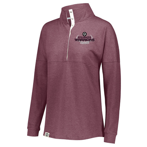 Stillwater Soccer French Terry Button Pullover- Ladies & Men's, 3 Colors