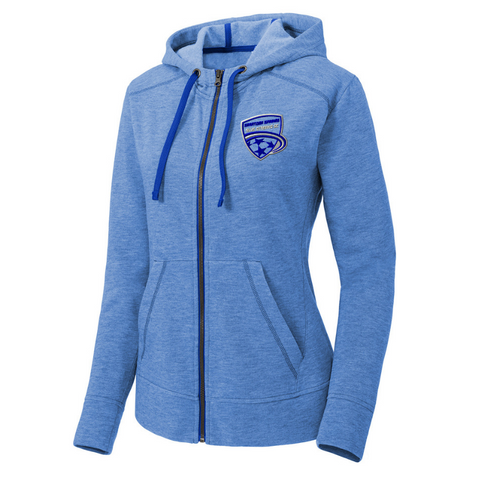 Saratoga Soccer Full Zip Performance Hoodie- Ladies & Men's, 4 Colors