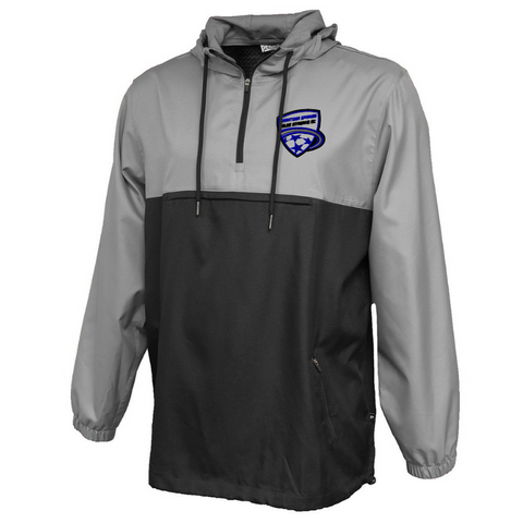 Saratoga Soccer Colorblock Hooded 1/4 Zip Windbreaker- Ladies & Men's, 3 Colors