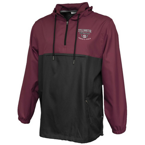 Stillwater Track & Field Colorblock Hooded 1/4 Zip- Ladies & Men's, 2 Colors