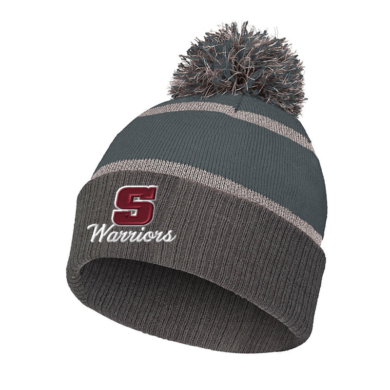 Stillwater Warriors Reflective Stripe Pom Beanie- 3 Colors