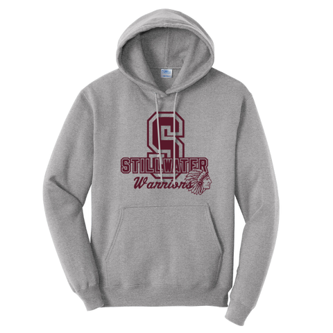 Stillwater Warriors Hooded Sweatshirt- Youth & Adult, 3 Colors, 2 Logos
