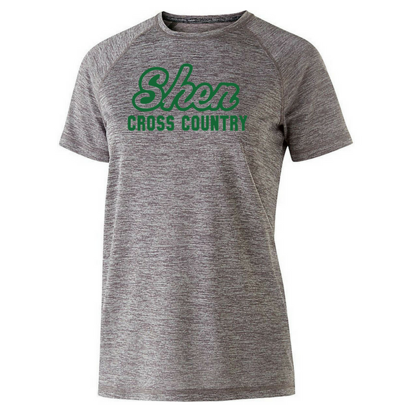 Shen Cross Country Heather Performance Tee- Youth, Ladies, & Men's, 3 Colors, 2 Logo Options