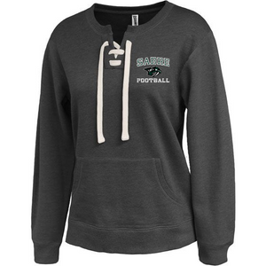 Schalmont Football Ladies Crew Neck Lace-Up Hoodie- 2 Colors