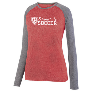 Schenectady Soccer Long Sleeve Heathered Colorblock Performance Shirt- Ladies & Men's, 2 Colors