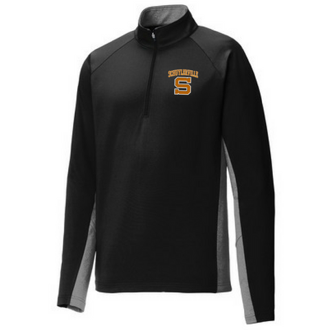 Schuylerville Horses Colorblock Performance 1/4 Zip- Ladies & Men's, 2 Colors