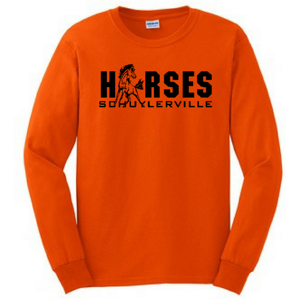 Schuylerville Horses Long Sleeve Shirt- Youth & Adult, 2 Colors
