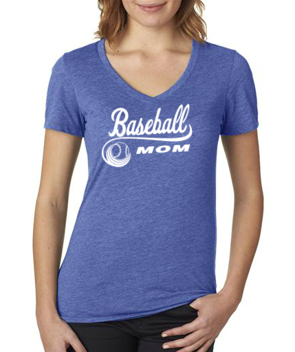 Softball/Baseball Fan: Ladies V-Neck: Mom or Grandma