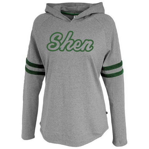 Shen Plainsmen Ladies Velvet Stripe Hooded Long Sleeve- 2 Colors