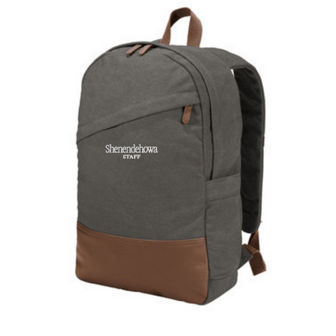 Shen Staff Cotton Canvas Backpack- 2 Colors