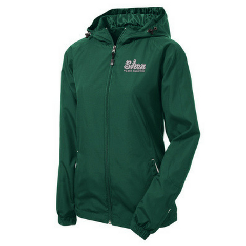 Shen Track & Field Lightweight Hooded Full-Zip Jacket- Youth, Ladies, & Adult, 2 Colors