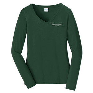 Shen Staff Ladies Long Sleeve V-Neck Tee- 3 Colors