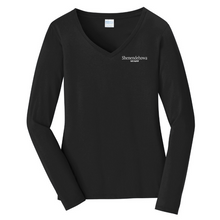 Load image into Gallery viewer, Shen Staff Ladies Long Sleeve V-Neck Tee- 3 Colors
