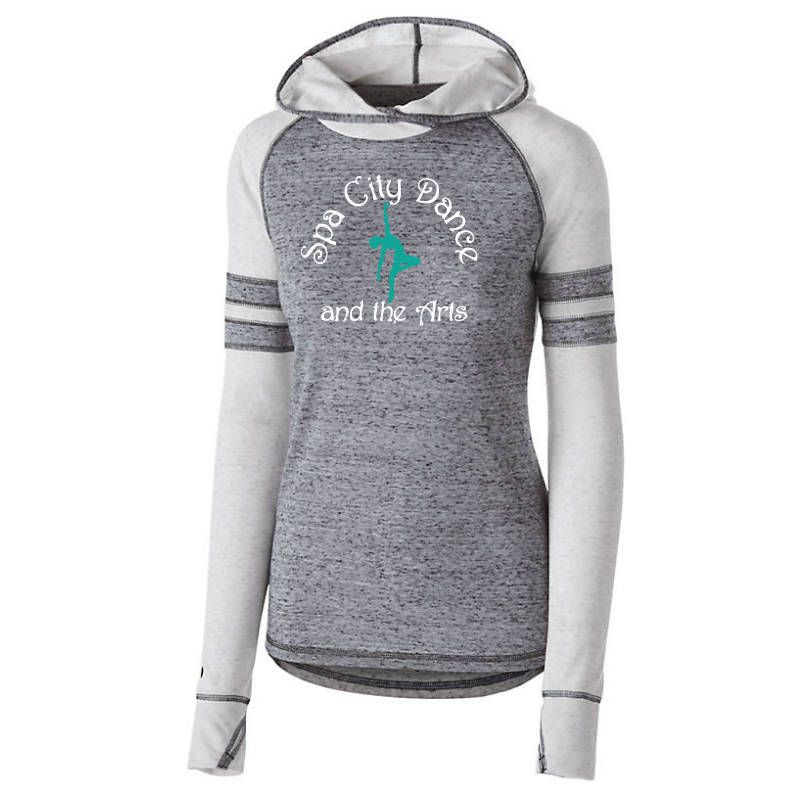 Spa City Dance Hooded Two-Tone Long Sleeve- Girls & Ladies