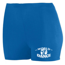 Load image into Gallery viewer, World of Dance Spandex Shorts - Girls & Ladies, 2 Colors