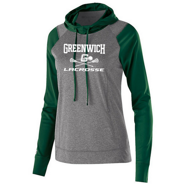 Greenwich Lacrosse Two-Tone Long Sleeve Hooded Performance Shirt- Ladies & Men's, 2 Colors